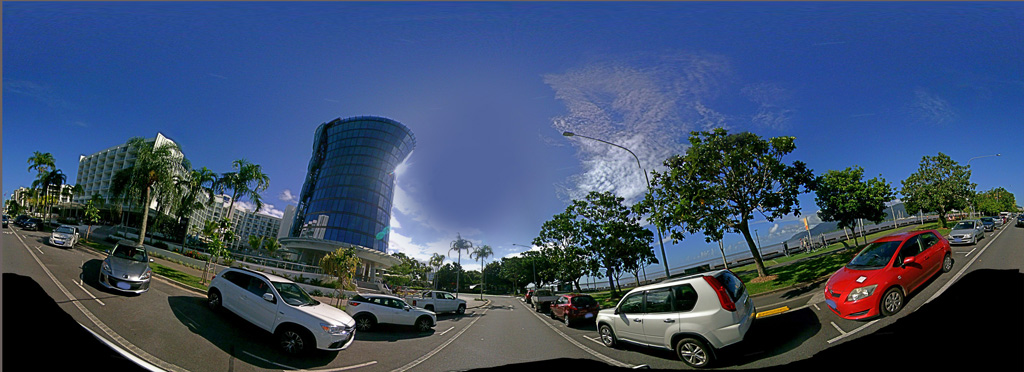 Panorama image of Riley Hotel on Esplanade, 22 April 2019